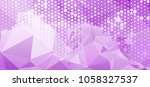 abstract background with dots.... | Shutterstock .eps vector #1058327537