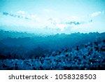 multicolor dark blue geometric... | Shutterstock . vector #1058328503
