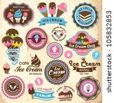 collection of vintage retro ice ... | Shutterstock .eps vector #105832853