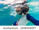underwater photo of a young...   Shutterstock . vector #1058334497