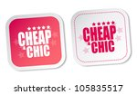 cheap   chic stickers | Shutterstock . vector #105835517
