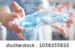 businessman on blurred...   Shutterstock . vector #1058355833