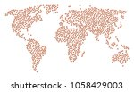 continental concept map...   Shutterstock .eps vector #1058429003