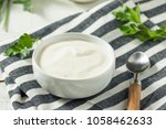 creamy homemade ranch dressing... | Shutterstock . vector #1058462633