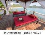 massage table overlooking the... | Shutterstock . vector #1058470127