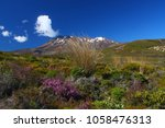 landscape in the tongariro... | Shutterstock . vector #1058476313