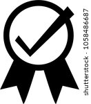 quality assurance icon vector | Shutterstock .eps vector #1058486687