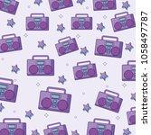 bombox stereo background design | Shutterstock .eps vector #1058497787