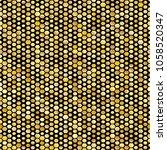 hexagon golden seamless pattern.... | Shutterstock .eps vector #1058520347