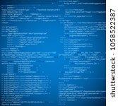 website html abstract code... | Shutterstock .eps vector #1058522387