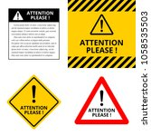 attention please  a set of... | Shutterstock .eps vector #1058535503