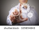 colour wheels as symbols of... | Shutterstock . vector #105854843