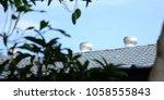 ventilation at roof turbine... | Shutterstock . vector #1058555843