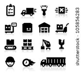 logistics icons | Shutterstock .eps vector #105856283