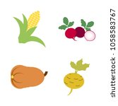 vegetables icon set with 4... | Shutterstock .eps vector #1058583767