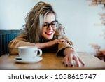 beautiful fashion stylish girl... | Shutterstock . vector #1058615747