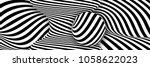 black white 3d line distortion... | Shutterstock .eps vector #1058622023
