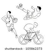 set of sport collection vector | Shutterstock .eps vector #105862373