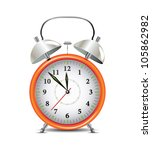 Orange Alarm Clock - stock vector