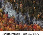 Small photo of Adirondack Monutains, New York / United States - October 16th 2017: Fall Foliage when hiking in the Adirondacks