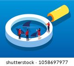 financial risk monitoring | Shutterstock .eps vector #1058697977