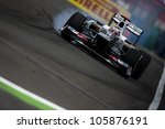 VALENCIA, SPAIN - JUNE 22: Kamul Kobayashi in the Formula 1 Grand Prix of Europe, in Valencia Street Circuit, Spain on June 22, 2012 - stock photo