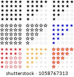 star rating icon raster art... | Shutterstock . vector #1058767313