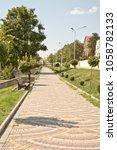 pedestrian alley of the... | Shutterstock . vector #1058782133