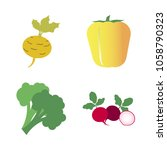 vegetables icon set with 4... | Shutterstock .eps vector #1058790323