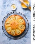 homemade apple cake topped with ... | Shutterstock . vector #1058807933