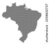 brazil map halftone vector icon.... | Shutterstock .eps vector #1058820737