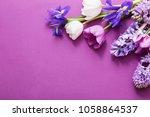 beautiful flowers on paper... | Shutterstock . vector #1058864537