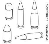 vector set of bullet | Shutterstock .eps vector #1058883647