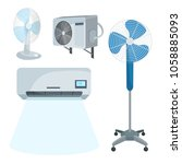 vector set of devices for... | Shutterstock .eps vector #1058885093