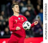 Small photo of ZWITSERLAND, GENEVA - March 26th 2018: Cristiano Ronaldo During the practice friendly interland match of the European champions Portugal vs the Netherlands practicing road to the World Cup