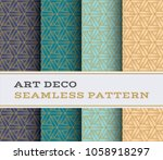 art deco seamless pattern with... | Shutterstock .eps vector #1058918297