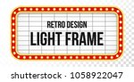 light sign over transparent... | Shutterstock .eps vector #1058922047