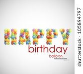 happy birthday. background with ... | Shutterstock .eps vector #105894797