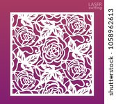 die cut ornamental panel with... | Shutterstock .eps vector #1058962613