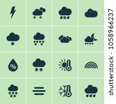 weather icons set with... | Shutterstock .eps vector #1058966237