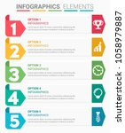 infographics element abstract... | Shutterstock .eps vector #1058979887