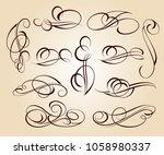 calligraphic elegant elements... | Shutterstock .eps vector #1058980337