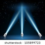 illustration of searchlights or ... | Shutterstock .eps vector #105899723