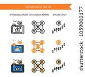 bitcoin icon set.smart phone... | Shutterstock .eps vector #1059002177