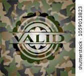 valid on camo texture | Shutterstock .eps vector #1059013823