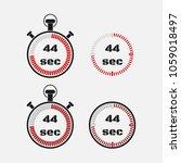 timer 44 seconds on gray... | Shutterstock .eps vector #1059018497