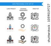 data processing icon set... | Shutterstock .eps vector #1059019727