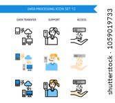 data processing icon set... | Shutterstock .eps vector #1059019733
