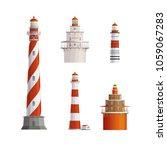 old lighthouses vector... | Shutterstock .eps vector #1059067283