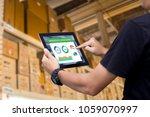 smart warehouse management... | Shutterstock . vector #1059070997